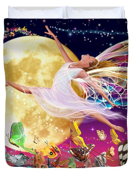 Moon Fairy Variant 1 Duvet Cover by Garry Walton