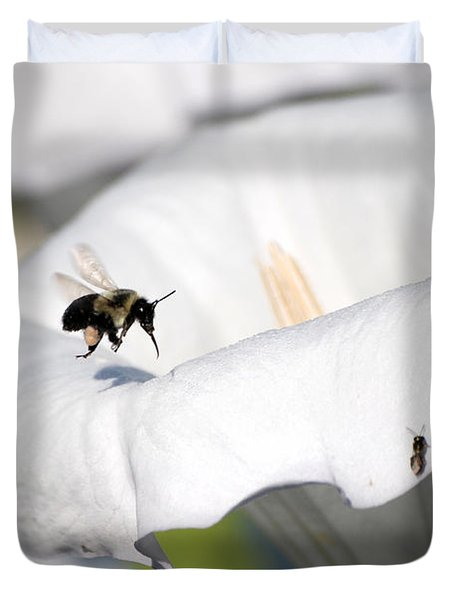 Moon Flower 3 Duvet Cover by Thomas Woolworth