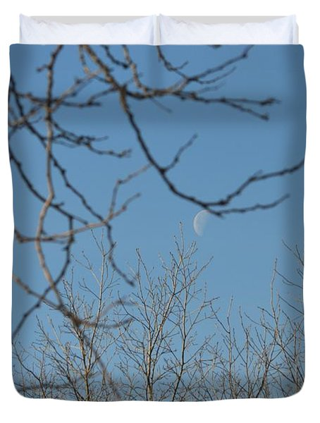 Moon On Treetop Duvet Cover by Sonali Gangane