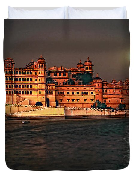 Moon Over Udaipur Duvet Cover by Steve Harrington