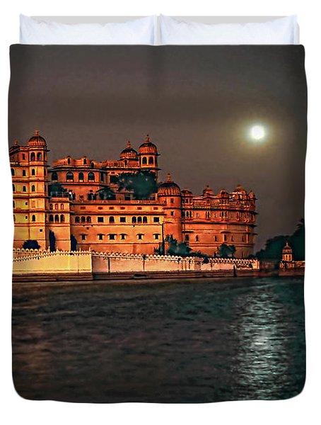 Moon Over Udaipur Duvet Cover by Steve Harrington