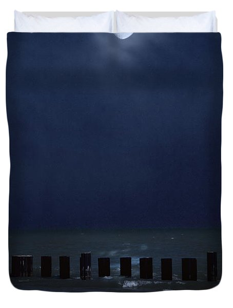 Moon Over Waters Duvet Cover by Margie Hurwich