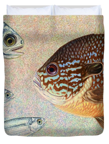 Mooneyes Sunfish Duvet Cover by James W Johnson