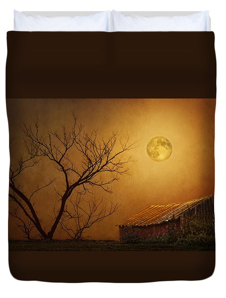Moonglow Over Polenz Ranch Duvet Cover by Nikolyn McDonald