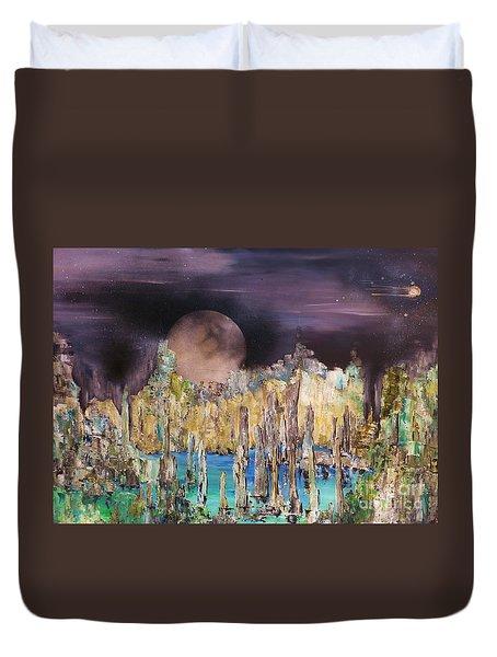 Moonhenge Duvet Cover by Kaye Miller-Dewing