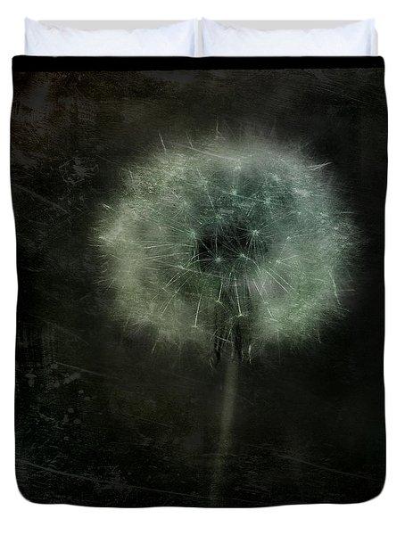 Moonlit Dandelion Duvet Cover by Gothicolors Donna