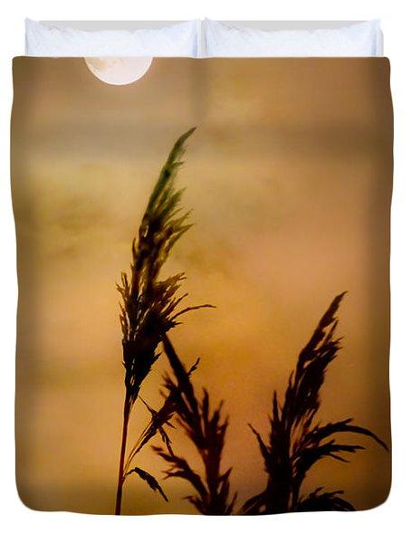 Moonlit Stalks Duvet Cover by Gary Heller