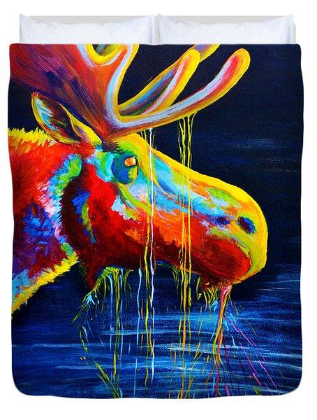 Moose Drool Duvet Cover by Teshia Art