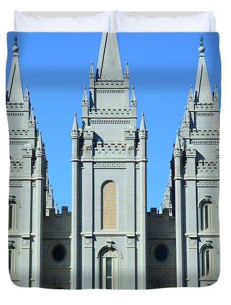 Morman Temple Duvet Cover by Kathleen Struckle