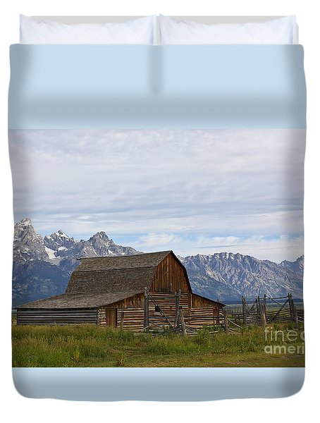 Mormon Row Barn Grand Teton Np  Duvet Cover by Teresa Zieba