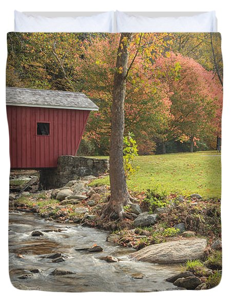 Morning at the park Duvet Cover by Bill  Wakeley