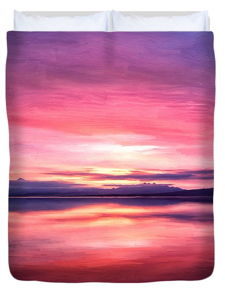 Morning Dawn Duvet Cover by Michael Pickett