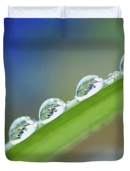 Morning Dew Drops Duvet Cover by Heiko Koehrer-Wagner