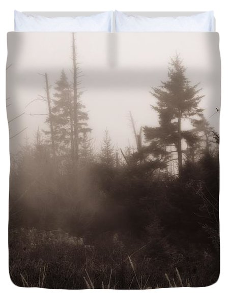 Morning Fog In The Smoky Mountains Duvet Cover by Dan Sproul
