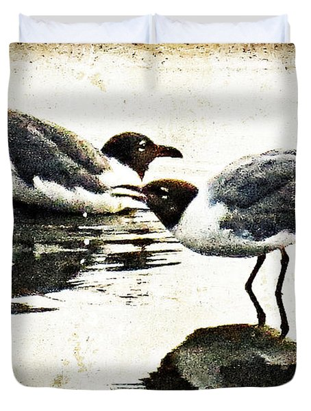 Morning Gulls - Seagull Art By Sharon Cummings Duvet Cover by Sharon Cummings