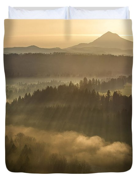 Morning Has Broken Duvet Cover by Lori Grimmett