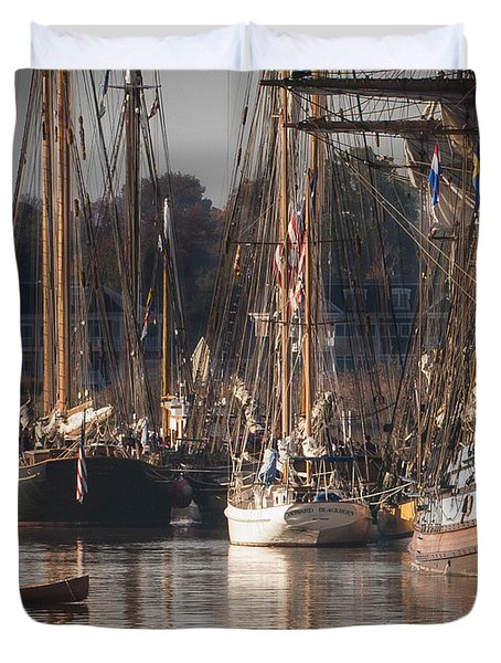Morning Light - Chestertown Downrigging Weekend Duvet Cover by Lauren Brice