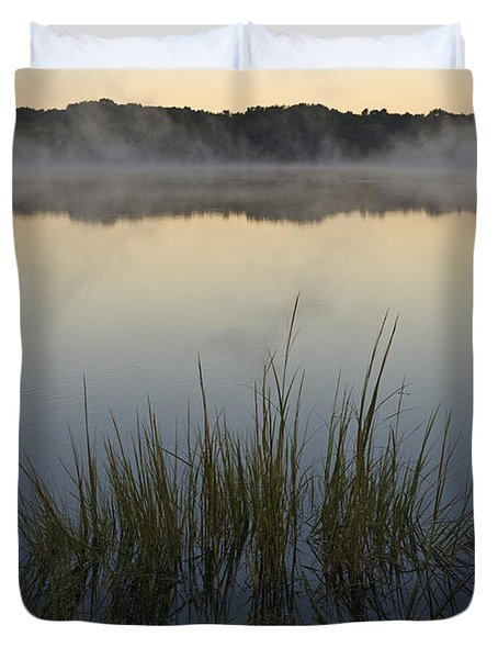 Morning Mist at Sunrise Duvet Cover by David Gordon