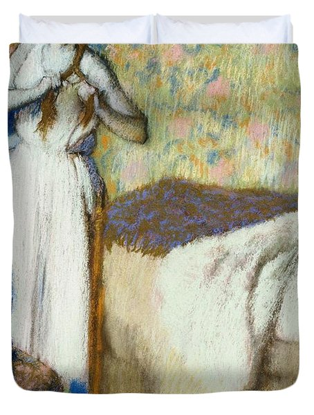 Morning Toilet Duvet Cover by Edgar Degas