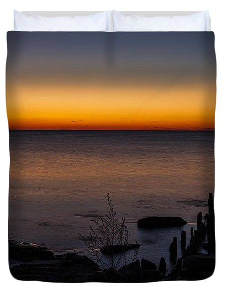 Morning Water Colors Duvet Cover by CJ Schmit