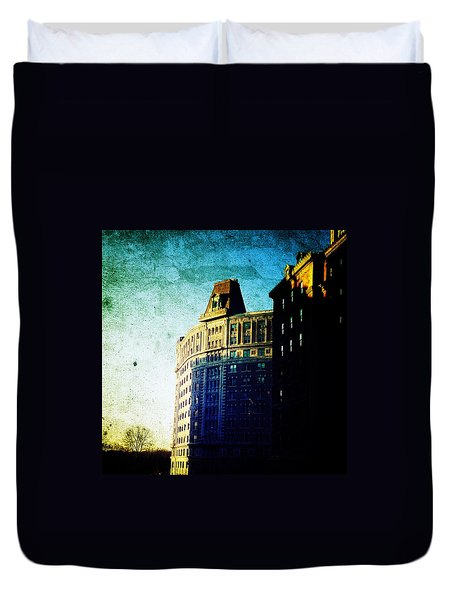 Morningside Heights Blue Duvet Cover by Natasha Marco