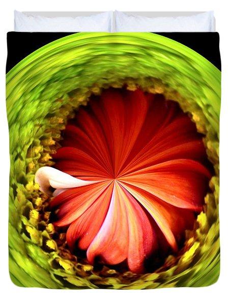 Morphed Art Globe 1 Duvet Cover by Rhonda Barrett