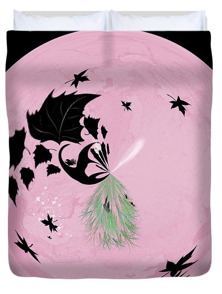Morphed Art Globe 10 Duvet Cover by Rhonda Barrett