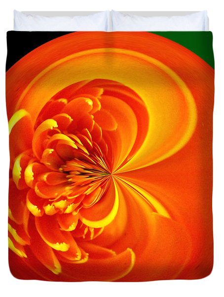Morphed Art Globe 19 Duvet Cover by Rhonda Barrett