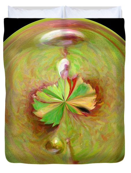 Morphed Art Globe 21 Duvet Cover by Rhonda Barrett