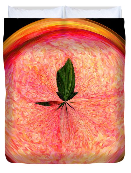 Morphed Art Globe 23 Duvet Cover by Rhonda Barrett
