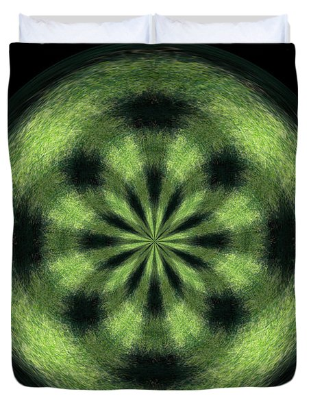 Morphed Art Globe 35 Duvet Cover by Rhonda Barrett