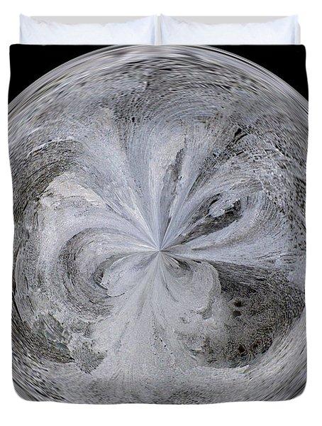 Morphed Art Globe 4 Duvet Cover by Rhonda Barrett