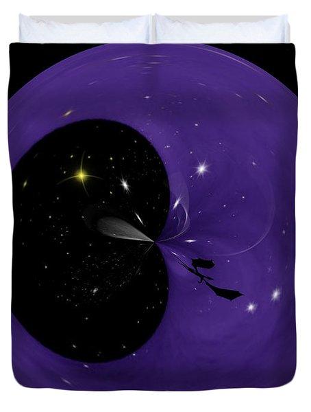 Morphed Art Globe 6 Duvet Cover by Rhonda Barrett