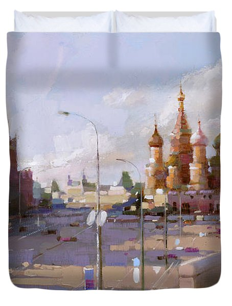 Moscow. Vasilevsky Descent. Views Of Red Square. Duvet Cover by Ramil Gappasov