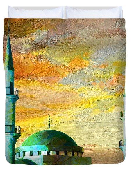 Mosque Jordan Duvet Cover by Catf