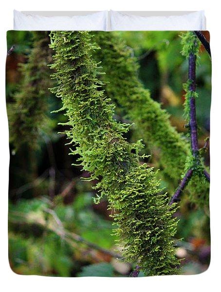 Moss Beauty Duvet Cover by Jeanette C Landstrom