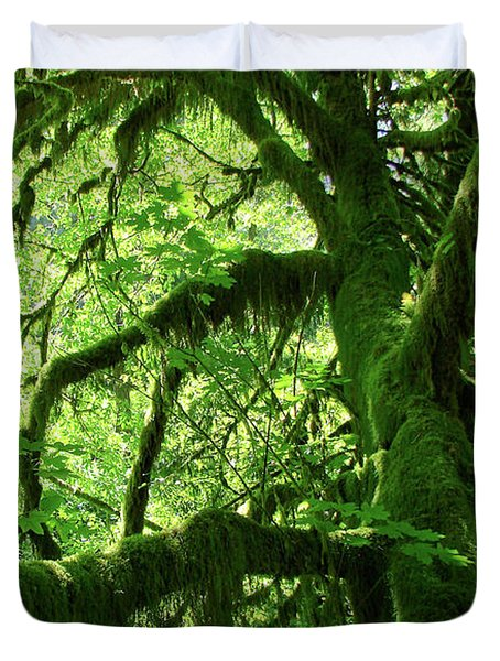 Mossy Tree Duvet Cover by Athena Mckinzie