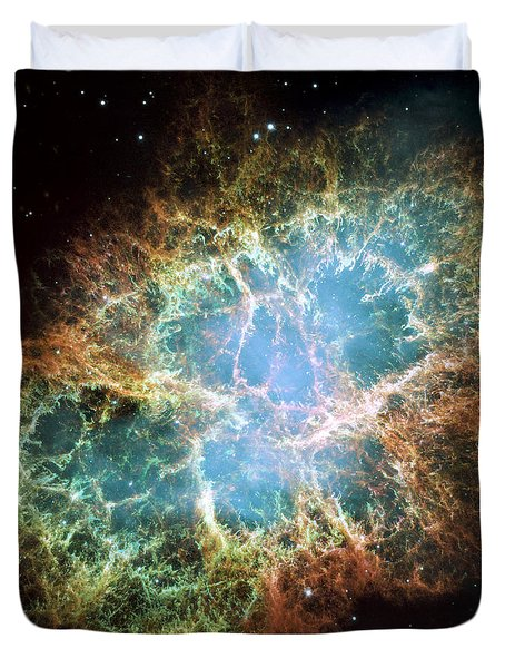 Most Detailed Image Of The Crab Nebula Duvet Cover by Adam Romanowicz