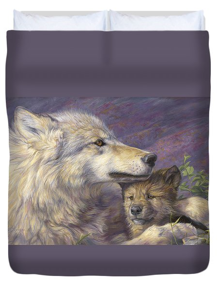 Mother's Love Duvet Cover by Lucie Bilodeau