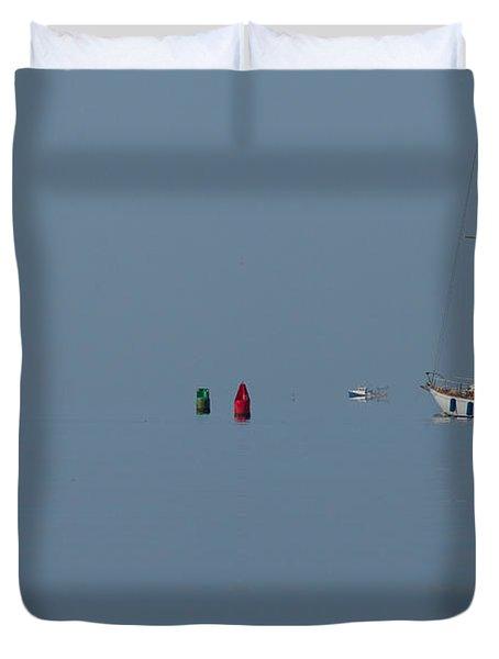 Motoring Sail Duvet Cover by Karol Livote