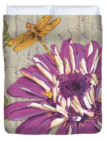 Moulin Floral 2 Duvet Cover by Debbie DeWitt