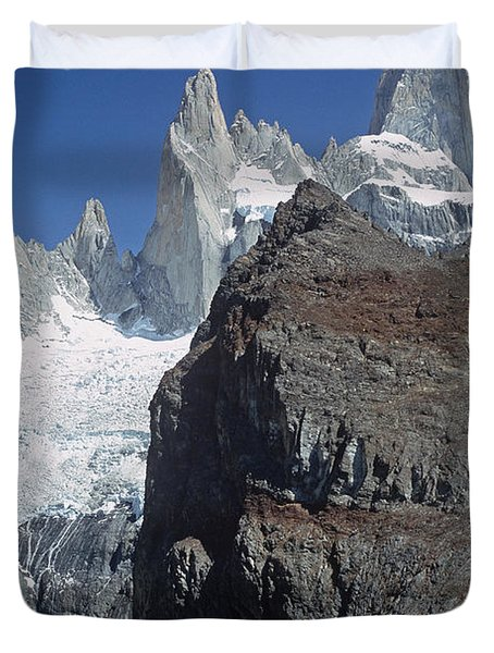 Mount Fitzroy Patagonia Duvet Cover by Rudi Prott