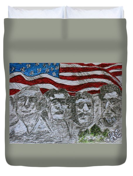Mount Rushmore Duvet Cover by Kathy Marrs Chandler