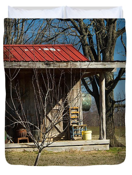 Mountain Cabin in Tennessee 1 Duvet Cover by Douglas Barnett