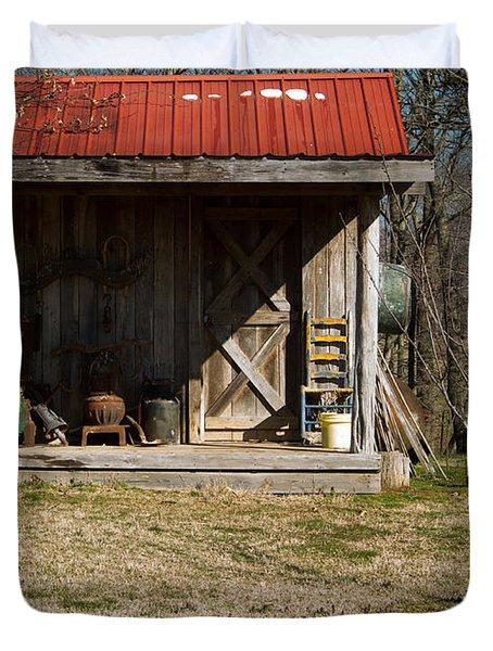 Mountain Cabin In Tennessee 3 Duvet Cover by Douglas Barnett