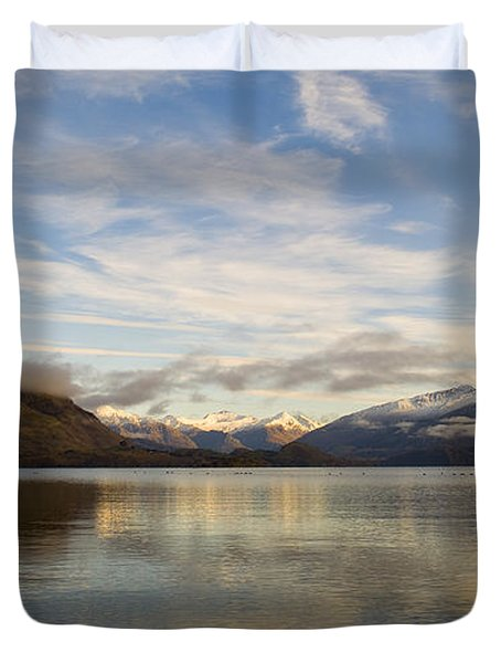 Mountain Dawn Duvet Cover by Tim Hester