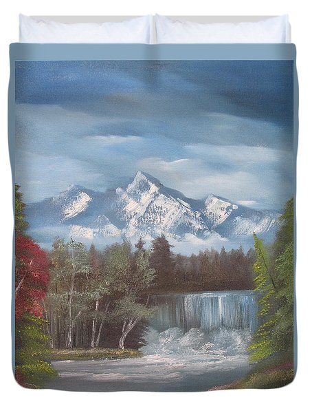 Mountain Dreams Duvet Cover by Dawn Nickel