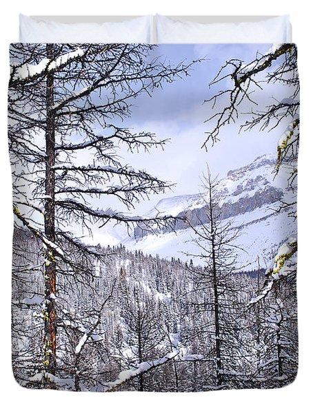 Mountain landscape Duvet Cover by Elena Elisseeva