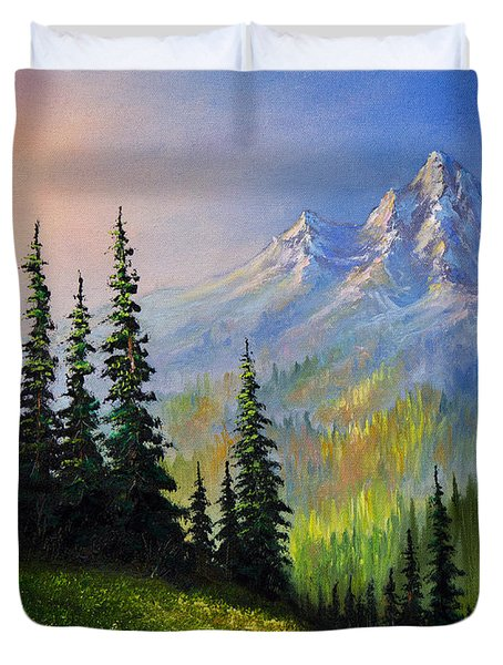 Mountain Morning Duvet Cover by C Steele