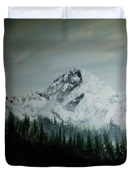 Mountain Range Duvet Cover by Erik Coryell